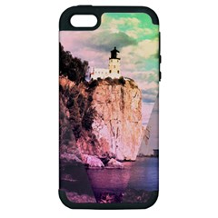 Lighthouse Apple Iphone 5 Hardshell Case (pc+silicone) by Contest1775858