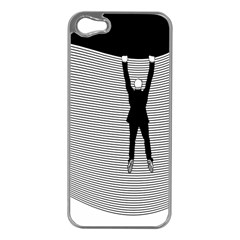 hang On The Phone!  Apple Iphone 5 Case (silver)
