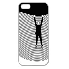 hang On The Phone!  Apple Seamless Iphone 5 Case (clear) by doodlelabel