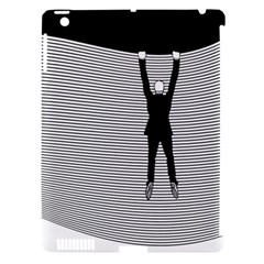 hang On! Hang On!  Apple Ipad 3/4 Hardshell Case (compatible With Smart Cover) by doodlelabel