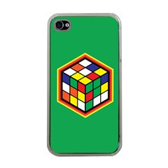 Colorful Cube, Solve It! Apple Iphone 4 Case (clear) by ContestDesigns