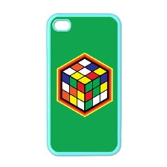 Colorful Cube, Solve It! Apple iPhone 4 Case (Color) by ContestDesigns