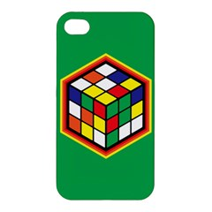 Colorful Cube, Solve It! Apple Iphone 4/4s Hardshell Case by ContestDesigns