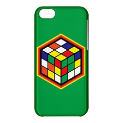 Colorful Cube, Solve It! Apple Iphone 5c Hardshell Case by ContestDesigns