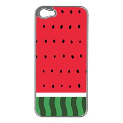 Watermelon! Apple Iphone 5 Case (silver) by ContestDesigns
