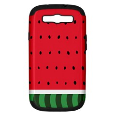 Watermelon! Samsung Galaxy S Iii Hardshell Case (pc+silicone) by ContestDesigns