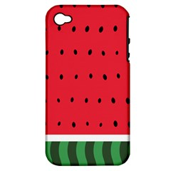Watermelon! Apple iPhone 4/4S Hardshell Case (PC+Silicone) by ContestDesigns