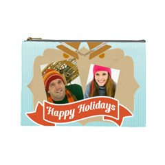 Merry Christmas By Merry Christmas   Cosmetic Bag (large)   K43vuzq2v4vv   Www Artscow Com Front