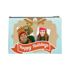 Merry Christmas By Merry Christmas   Cosmetic Bag (large)   K43vuzq2v4vv   Www Artscow Com Back