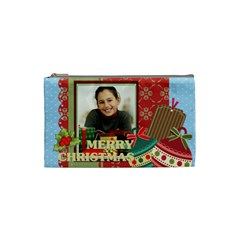 Merry Christmas By Merry Christmas   Cosmetic Bag (small)   Ha3r67ibty7g   Www Artscow Com Front