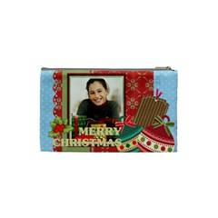 Merry Christmas By Merry Christmas   Cosmetic Bag (small)   Ha3r67ibty7g   Www Artscow Com Back