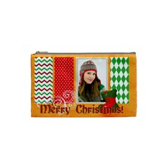 Merry Christmas By Merry Christmas   Cosmetic Bag (small)   Rvomma1qz16z   Www Artscow Com Front