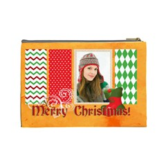 Merry Christmas By Merry Christmas   Cosmetic Bag (large)   Tanh7gv3q1ux   Www Artscow Com Back