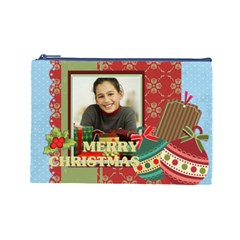 Merry Christmas By Merry Christmas   Cosmetic Bag (large)   Mc3ur1kazxy0   Www Artscow Com Front