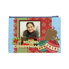 Merry Christmas By Merry Christmas   Cosmetic Bag (large)   Mc3ur1kazxy0   Www Artscow Com Back