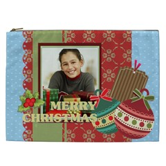 Merry Christmas By Merry Christmas   Cosmetic Bag (xxl)   Ec49qo1hnevg   Www Artscow Com Front