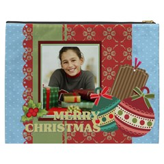 Merry Christmas By Merry Christmas   Cosmetic Bag (xxxl)   3vmytlvrenrm   Www Artscow Com Back