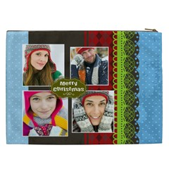 Merry Christmas By Merry Christmas   Cosmetic Bag (xxl)   N099bz6zz3d9   Www Artscow Com Back