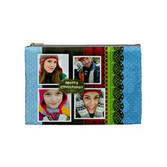 Merry Christmas By Merry Christmas   Cosmetic Bag (medium)   Ovezn4hmpykn   Www Artscow Com Front