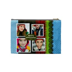 Merry Christmas By Merry Christmas   Cosmetic Bag (medium)   Ovezn4hmpykn   Www Artscow Com Back