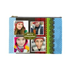 Merry Christmas By Merry Christmas   Cosmetic Bag (large)   4vj2rsq9crfn   Www Artscow Com Front