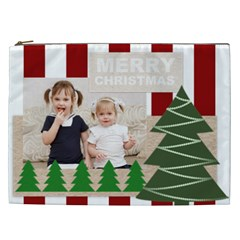 Merry Chsristmas By Joely   Cosmetic Bag (xxl)   9v8hlv8vsjsi   Www Artscow Com Front