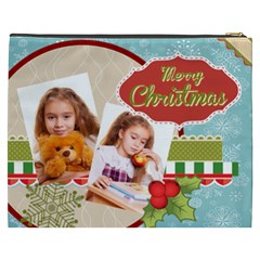 Merry Christmas By Joely   Cosmetic Bag (xxxl)   R09tu5yzap7f   Www Artscow Com Back