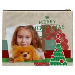 Merry Christmas By Joely   Cosmetic Bag (xxxl)   Xgzxr10dyr2y   Www Artscow Com Back