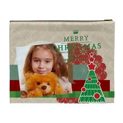 Merry Christmas By Joely   Cosmetic Bag (xl)   Gz9z45wxzny0   Www Artscow Com Back