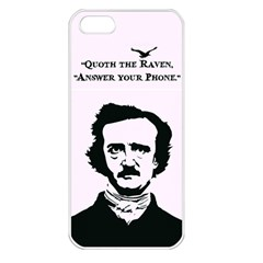 Qouth The Raven   Answer Your Phone  Apple Iphone 5 Seamless Case (white)