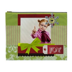 Merry Christmas By Joely   Cosmetic Bag (xl)   Pktnl570xzpp   Www Artscow Com Front