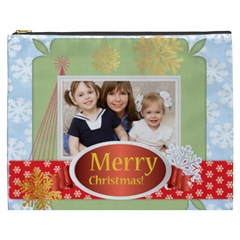 Merry Christmas By Joely   Cosmetic Bag (xxxl)   Yzaqa2nhv1n0   Www Artscow Com Front