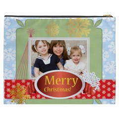 Merry Christmas By Joely   Cosmetic Bag (xxxl)   Yzaqa2nhv1n0   Www Artscow Com Back