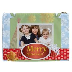 Merry Chsristmas By Joely   Cosmetic Bag (xxl)   Wjenke5fx9vx   Www Artscow Com Back