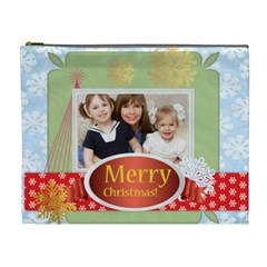 Merry Christmas By Joely   Cosmetic Bag (xl)   Vezhu2os43fj   Www Artscow Com Front