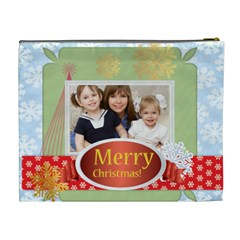Merry Christmas By Joely   Cosmetic Bag (xl)   Vezhu2os43fj   Www Artscow Com Back