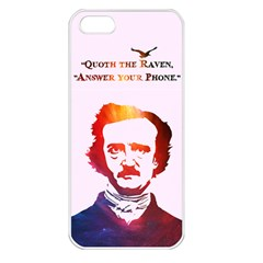 Qouth The Raven   Answer Your Phone (in Color)  Apple Iphone 5 Seamless Case (white)