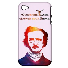 Qouth The Raven   Answer Your Phone (in Color)  Apple Iphone 4/4s Hardshell Case (pc+silicone) by TheTalkingDead