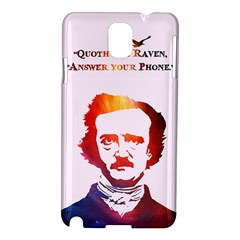 Qouth The Raven   Answer Your Phone (in Color)  Samsung Galaxy Note 3 N9005 Hardshell Case by TheTalkingDead