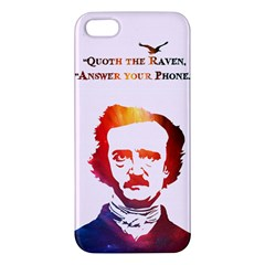 Qouth The Raven   Answer Your Phone (in Color)  Iphone 5s Premium Hardshell Case