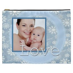 Merry Christmas By M Jan   Cosmetic Bag (xxxl)   Lliuoesg33fx   Www Artscow Com Front