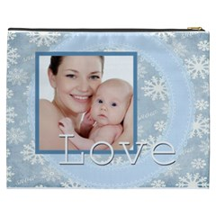 Merry Christmas By M Jan   Cosmetic Bag (xxxl)   Lliuoesg33fx   Www Artscow Com Back