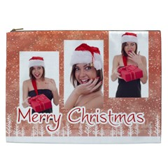 Merry Christmas By M Jan   Cosmetic Bag (xxl)   W2mkvgsksam2   Www Artscow Com Front