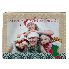 Merry Christmas By M Jan   Cosmetic Bag (xxl)   Qlx3cbbwtppc   Www Artscow Com Front