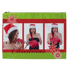 Merry Christmas By M Jan   Cosmetic Bag (xxl)   7sc7wg76l8gq   Www Artscow Com Front