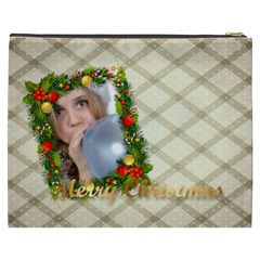 Merry Christmas By M Jan   Cosmetic Bag (xxxl)   Eu3rx5v4d0gr   Www Artscow Com Back