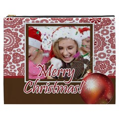 Merry Christmas By M Jan   Cosmetic Bag (xxxl)   Qb99s5zsm8xl   Www Artscow Com Front