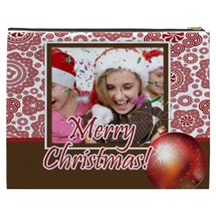 Merry Christmas By M Jan   Cosmetic Bag (xxxl)   Qb99s5zsm8xl   Www Artscow Com Back