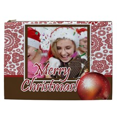 Merry Christmas By M Jan   Cosmetic Bag (xxl)   9biiur33y4cy   Www Artscow Com Front