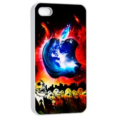 Its An Apple World Apple Iphone 4/4s Seamless Case (white) by TheTalkingDead